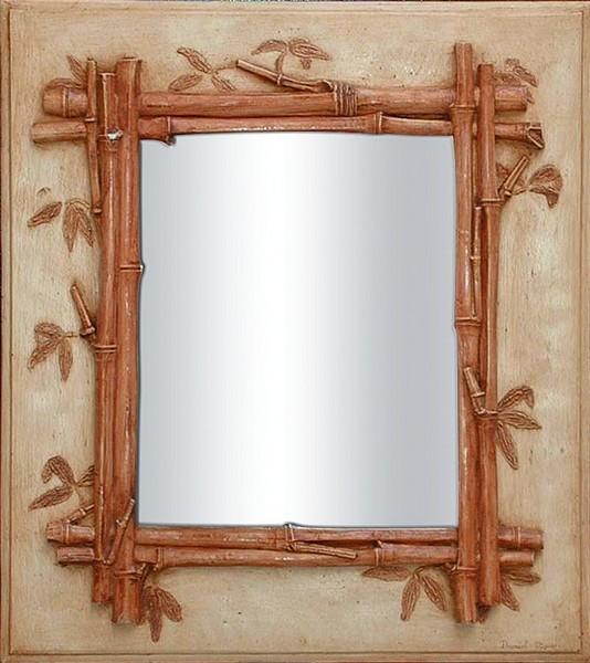 Miroir bambou for Miroir bambou