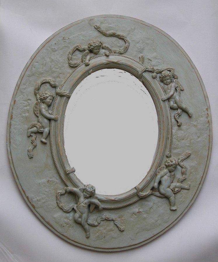 Miroir ovale ciel for Miroir ovale