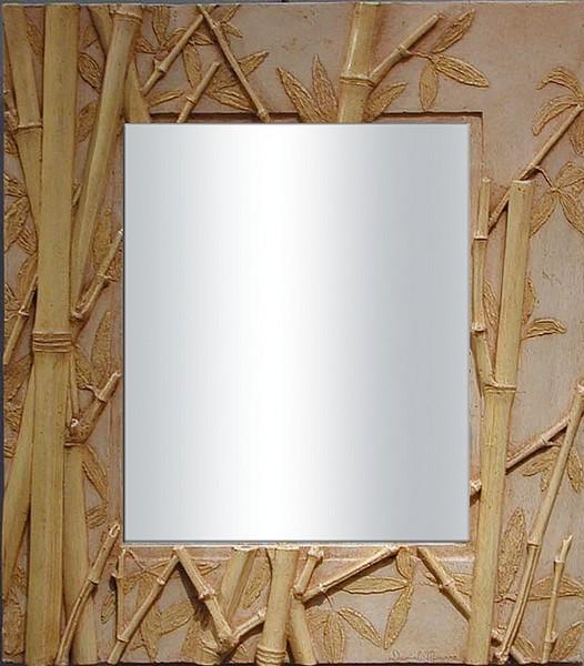Miroir bambouseraie pm for Miroir salle de bain bambou