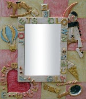 Miroir b b fille for Miroir fille