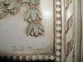 Détail signature Daniel MOURRE Miroir de charme, miroir déco