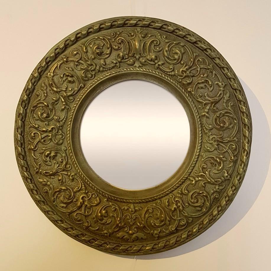 miroir rond bronze