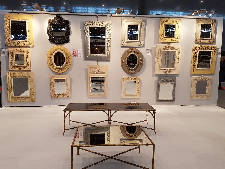 mur miroir élégant, miroir rouille et miroir bronze